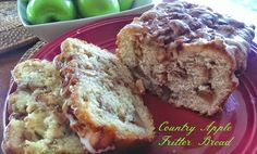 Awesome Country Apple Fritter Bread! – The Baking ChocolaTess. I made this and it is delicious. However, all of my apples rolled to the middle of the bread. I'm taking suggestions on how to prevent this.