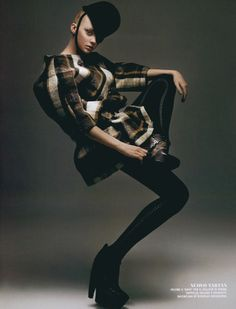 Heather Marks, Flair, September 2006, shot by Satoshi Saikusa- Balenciaga boots