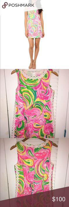 """Lilly Pulitzer Mila Shift Dress """"All Nighter"""" New with tags, never worn! Bright colors and in perfect condition. Size six, but could also look well on a size four. Lilly Pulitzer Dresses Mini"""