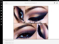 Perfect dark dramatic makeup