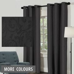 Black eyelet curtains ,the value 8 pack allows you to create a sophisticated , modern feel in your home with out breaking the budget.