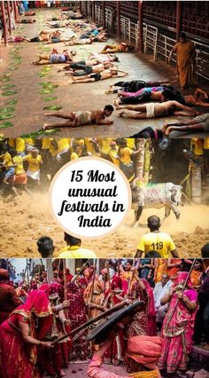 15 most unusual religious festivals of India: Some of these eccentric festivals will pique your curiosity, others will make you cringe. Festivals Of India, Festivals Around The World, Hampi, India Travel Guide, Asia Travel, Wanderlust Travel, Taj Mahal, Backpacking India, Travel Guides