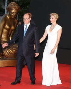 On June 12, 2016, Prince Albert II of Monaco and Princess Charlene of Monaco attend the opening ceremony of the 56th Monte Carlo Television Festival, in Monaco.