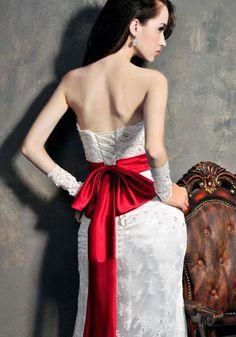Robe de Mariée Empire-Soutien-gorge De Dentelle Queue De Poisson Sexy Robe De…
