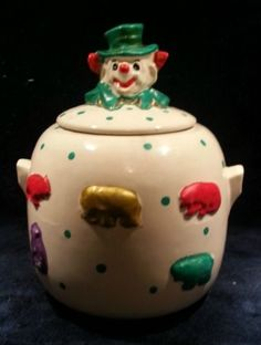 Marked McCoy 'Animal Crackers' Vintage Cookie Jar | eBay