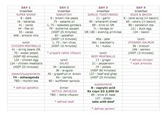 4 day rotation diet template