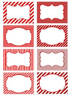 Printable Red and White Blank Holiday Tags or cards. Great for Food Labeling or just a name tag! Or anything else you can dream up! https://www.etsy.com/listing/240396754/blank-labels-food-organizing-labeling?ref=shop_home_active_3