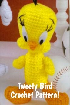 Crochet Tweety Bird Amigurumi - Handmade Crochet Amigurumi Toy ... | 346x231