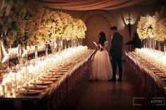 Four thousand Candles, mass arrangements, white roses, hydrangeas, orchids big floral arch. White Roses Wedding, Floral Arch, Event Company, Orchids, Wedding Planner, Floral Design, Candles, Table Decorations, Hydrangeas