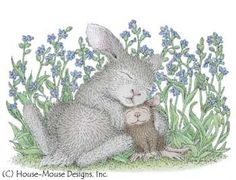 """""""Snuggle Bunny"""" from House-Mouse Designs®. This image was recently purchased on a rubber stamp. Click on the image to see it on a bunch of other really """"Mice"""" products."""