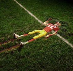 View Stock Photo of Sacked Quaterback Plowed Into Field Elevated View. Find premium, high-resolution photos at Getty Images.