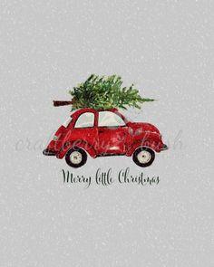 Red Christmas buggy printable | Craftberry Bush