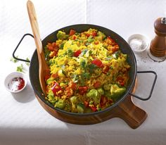 Auch dieses traditionell mit Fleisch und Meeresfrüchten zubereitete Gericht funktioniert vegetarisch und wird keinesfalls geschmacklos.