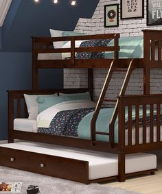 Brown Mission Trundle Bunk Bed