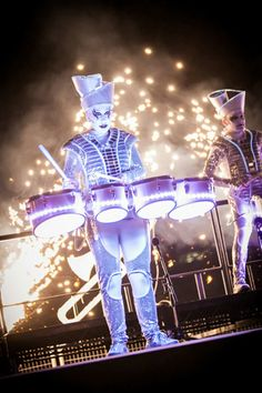 Hire LED Drummers, Book LED Drummers, Music Shows for Events, Music Entertainment, the LED Drummers are available to perform at any event in the World. Corporate Entertainment, Wedding Entertainment, Arts And Entertainment, Trommler, Led Costume, Costumes, Christmas Party Themes, Event Organiser, Live Events
