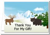 This is the perfect shower theme for a mountains shower or a winter baby shower! But, remember to say thank you! :)