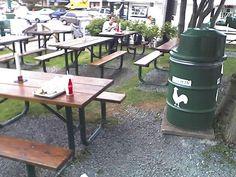 The Chickenburger - Pic Nic Area Outdoor Tables, Outdoor Decor, Nova Scotia, Picnic, Outdoor Furniture, Home Decor, Room Decor, Picnics, Home Interior Design