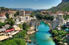 The Old Bridge over Neretva river in the city of Mostar in Bosnia and Herzegovina  (via lassi.kurkijarvi)