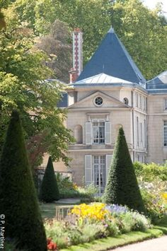 Garden, Napoleon  Josephine Bonaparte residence, Château de Malmaison, Rueil-Malmaison, France