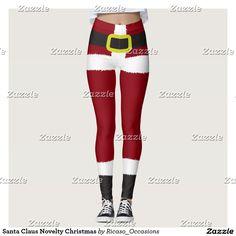 Santa Claus Novelty Christmas Leggings - fun all over print leggings from Ricaso
