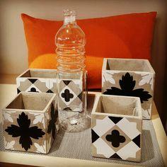 Les petits pots et jardinières en carreaux de ciment de chez Serax sont en vente à la boutique Les Heures Maison, Saint-Mandé Vincennes Paris est! Décoration arts de la table, luminaires, mobilier, cadeaux.