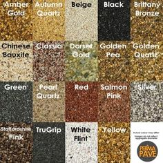 A large selection of aggregate in a range of colours for use in resin bound gravel surfacing. Resin Driveway, Resin Patio, Gravel Driveway, Gravel Patio, Front Driveway Ideas, Driveway Design, Front Walkway, Resin Bound Gravel, Terrace Tiles