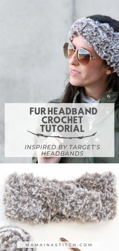 How To Crochet A Crossed Fur Headband Ear Warmer - This super easy pattern will show you how to make a twisted headband that looks store bought! Such a great handmade gift idea. Free crochet pattern with step by step picture tutorials to help you along. Faux Fur Headband, Ear Warmer Headband, Twist Headband, Knitted Headband, Crochet Headbands, Flower Headbands, Crochet Ear Warmer Pattern, Crochet Headband Pattern, Crochet Patterns