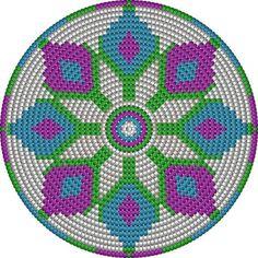 Risultati immagini per crochet pattern wayuu bag Motif Mandala Crochet, Tapestry Crochet Patterns, Crochet Motifs, Crochet Chart, Crochet Gratis, Crochet Diy, Love Crochet, Crochet Handbags, Crochet Purses