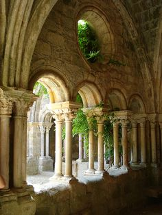 Abbaye de Fontfroide, near Narbonne, Languedoc Beautiful Architecture, Beautiful Buildings, Architecture Details, Beautiful Places, Belle France, France Photos, Romanesque, Abandoned Places, Belle Photo