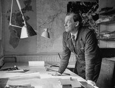 Alvar Aalto working