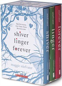 Shiver Trilogy by Maggie Stiefvater a very talented writer--Great series about shift changers with enough of a mix to appeal to both guys and girls.