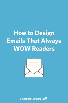 While nonprofit marketers spend a lot of time crafting great email content, it is just as important to give thought to those email's designs. Here are 6 design tips to help you craft great looking emails that wow readers.