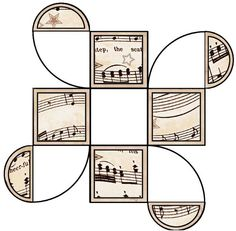 PRINTABLES with a vintage sheet music theme    :  http://artbyjean-music.blogspot.fr