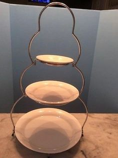Cup and Saucer Plate Stand /Tea Set Display Stand in Black & Clear ...