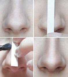 Nose contouring trick. source: joycevandam.nl