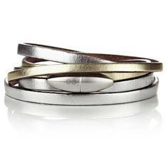 Wrap-around Bracelet - Bullet - Gold/Silver WRAP-AROUND BRACELET - BULLET - GOLD/SILVER Regular Price: £88.00 Special Price: £80.00 Jewelry Box, Fine Jewelry, Women Jewelry, Jewellery, Love Bracelets, Bangle Bracelets, Leather Gifts, Diamond Rings, Silver Rings
