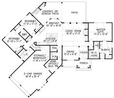 Plan 15885GE: Affordable Gable Roofed Ranch Home Plan