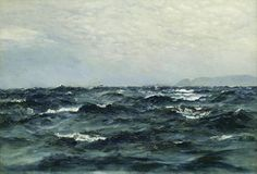 Henry Moore (British, 1831-1895) The open sea
