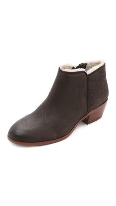 2fbf5ed2b88a8f Sam Edelman Petty Lined Booties Ankle Boots