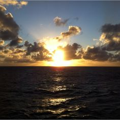 Sunset, somewhere in the Caribbean.