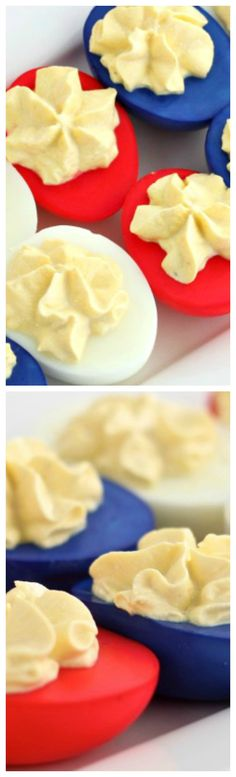 How to make Red White and Blue Deviled Eggs ~ They will be the HIT of the PARTY!!!