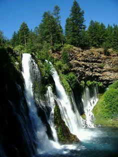 Burney Falls, CA - When I lived in Northern California, this was one of my favorite places to go. Lots of trails and breath taking views of the falls.