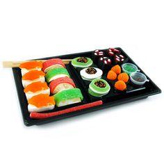 sushi maken van snoep