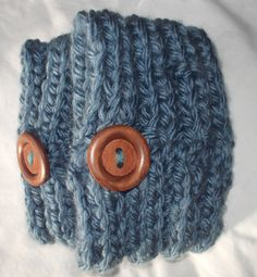 Slate Blue Ribbed Stitch Knit Boot Cuff by toastalope on Etsy, $18.00