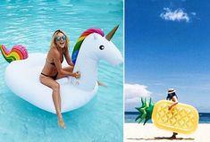 Gigantische opblaasbare dieren & fruit nu al vanaf €59,95   Keuze uit 5 verschillende - De zomer trend van dit jaar! #opblaas #dieren #eenhoorn #fruit #zee #zwembad
