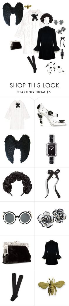 """""""AS SIMPLE AS BLACK & WHITE"""" by thebuzzwithgennybee on Polyvore featuring Gucci, Dolce&Gabbana, Chanel, Cara, Markus Lupfer, Barba, Aéropostale and Will Bishop"""