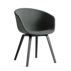Hay - About A Chair AAC 23, Holz-Vierbeingestell schwarz / Vollpolster Divina Melange 2 Farbe 170 - Einzelabbildung