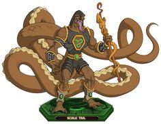 Tail - era otro de los grandes agentes de Hiss, pero cayo junto con sus compañeros en la guerra contra la Horda. Habilidades - Apresar - Coletazo - Rayos de energía - Rapidez - mudar de piel - regeneración - excavar