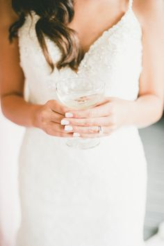 Sparkly white wedding dress: http://www.stylemepretty.com/little-black-book-blog/2014/11/21/romantic-wedding-at-the-loft-on-pine/ | Photography: Onelove - http://www.onelove-photo.com/