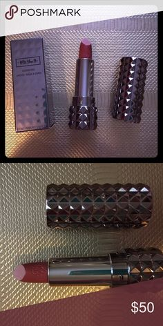 Kat Von D LE Studded Kiss Lipstick in Lolita II A Kat Von D limited-edition, iconic Studded Kiss Lipstick in a polished, gunmetal finished tube: Lolita II. Out of stock and very rare to find!💄 Kat Von D Makeup Lipstick